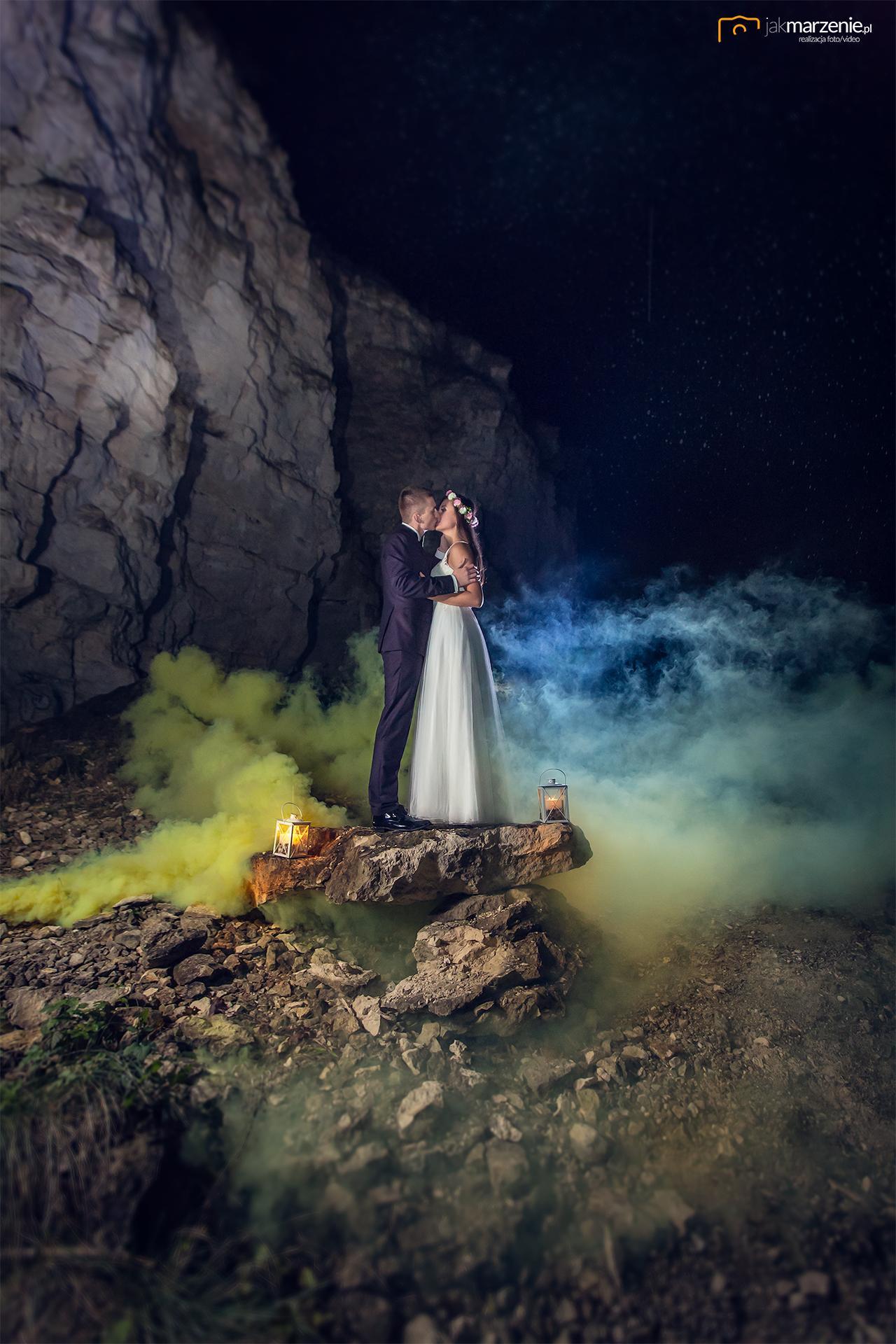 Plener Ślubny nocą- Sesja Mileny i Rafała
