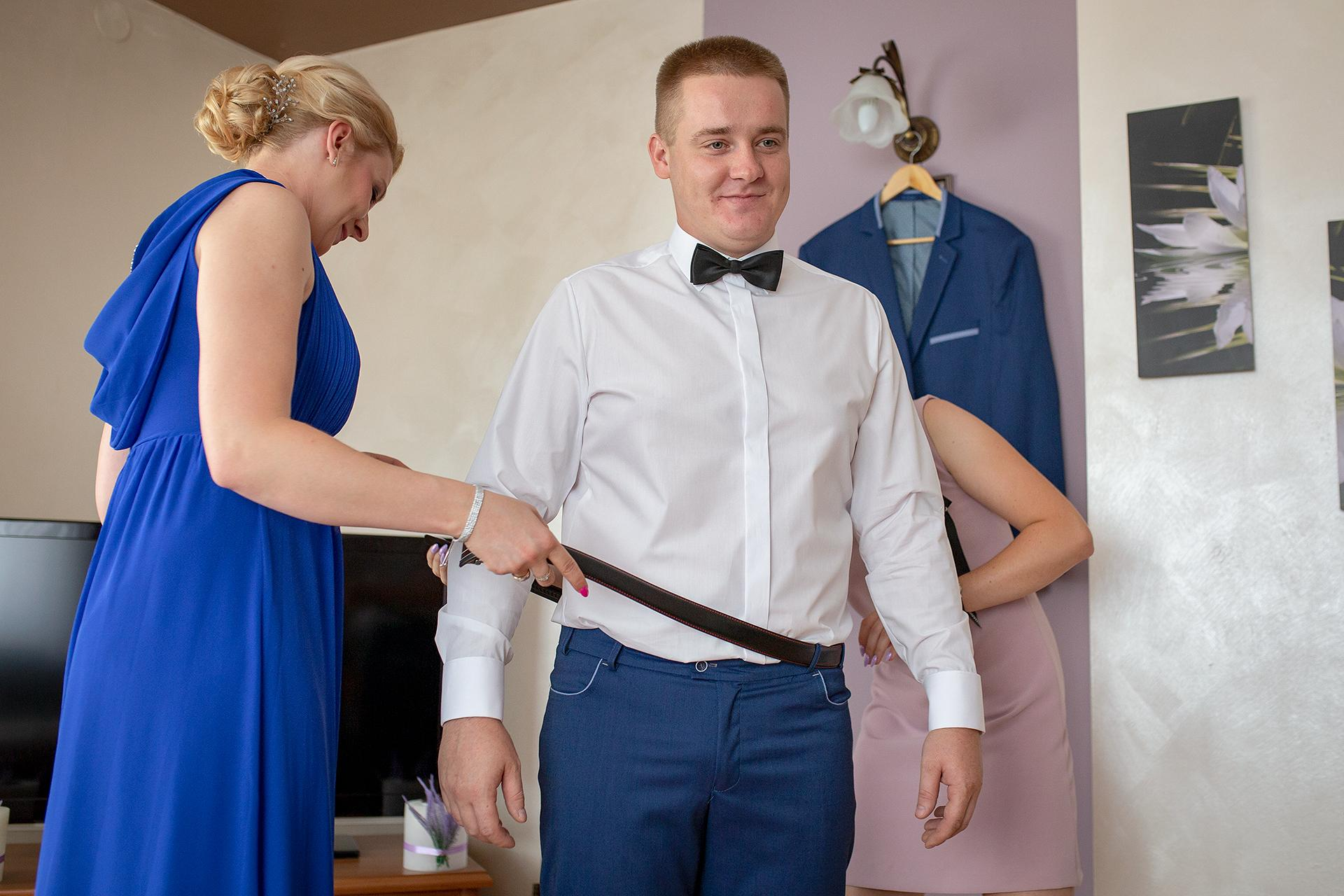 Pasek pana młodego - reportaż ślubny
