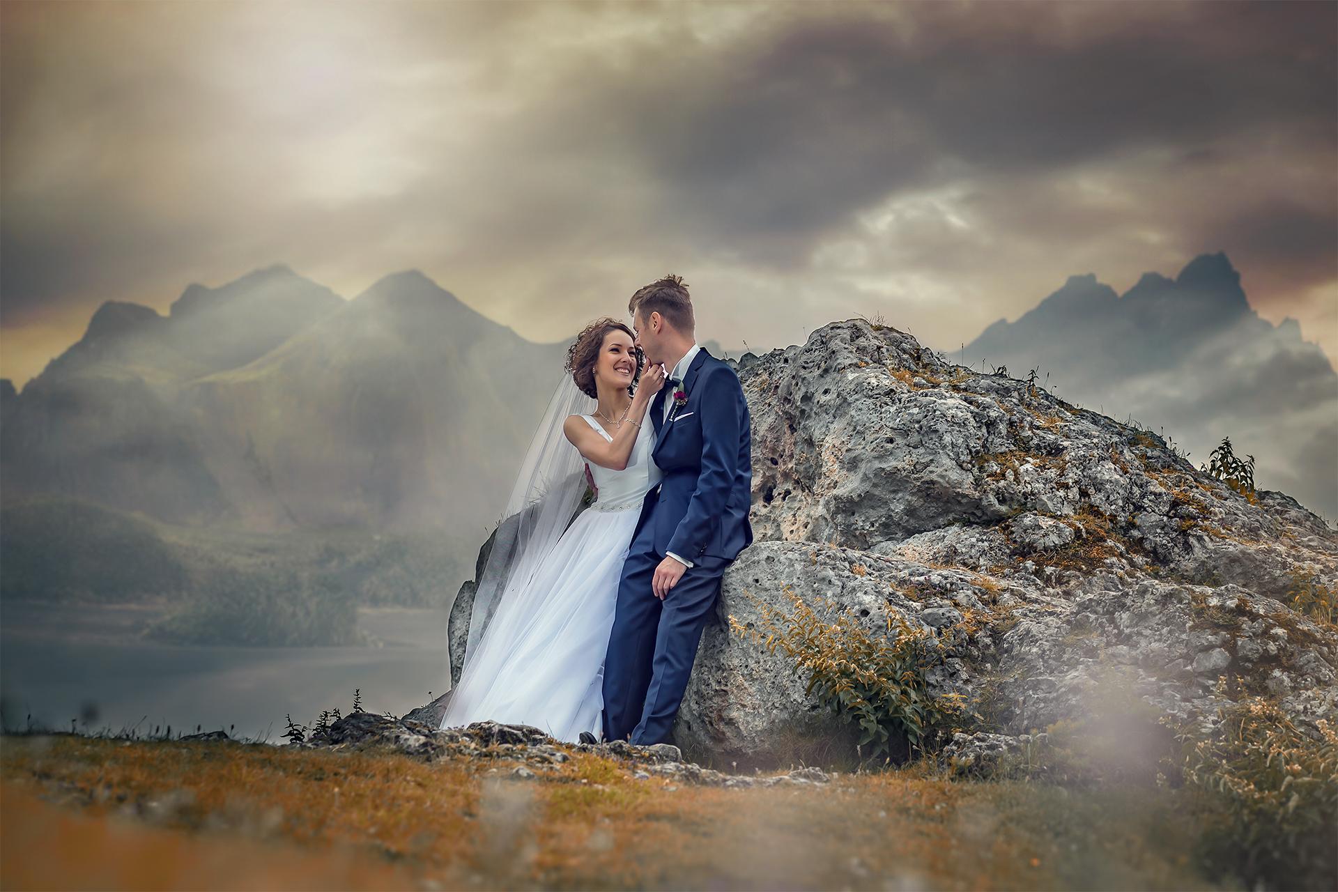 Sesja Plenerowa w Chmurach - Ania i Paweł