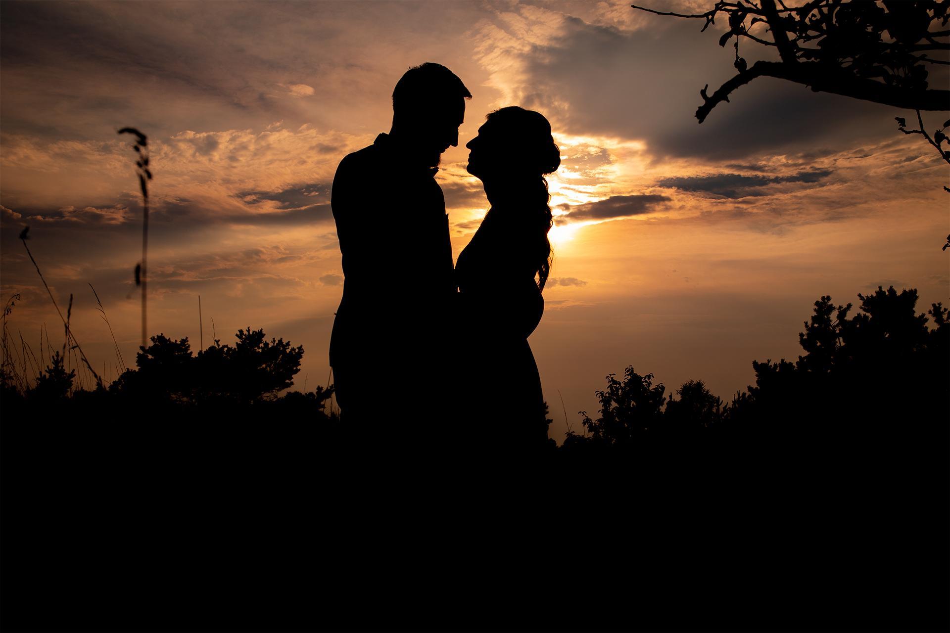 Plener ślubny o zachodzie słońca - Kalina i Damian