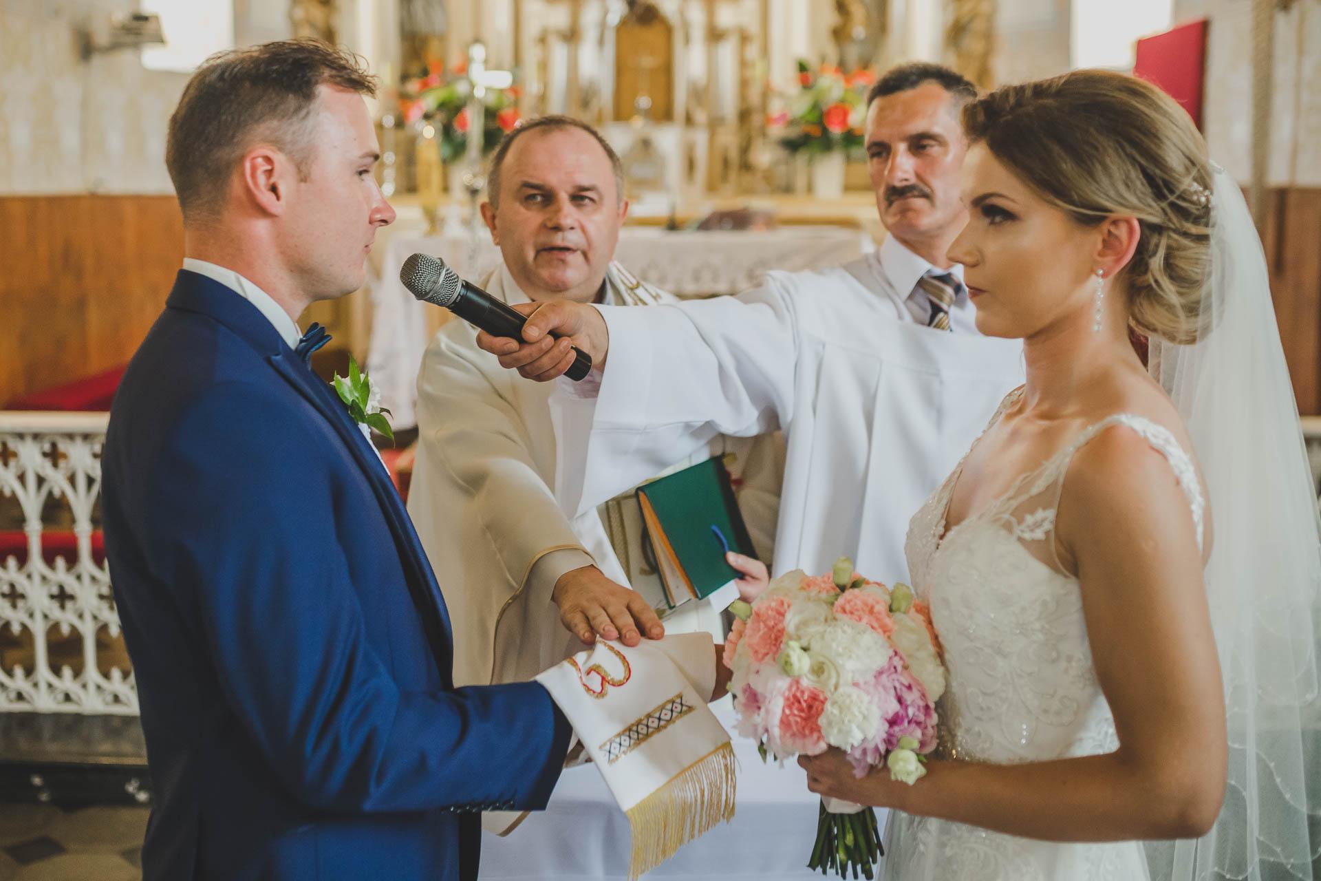 Przysięga małżeńska - pan młody