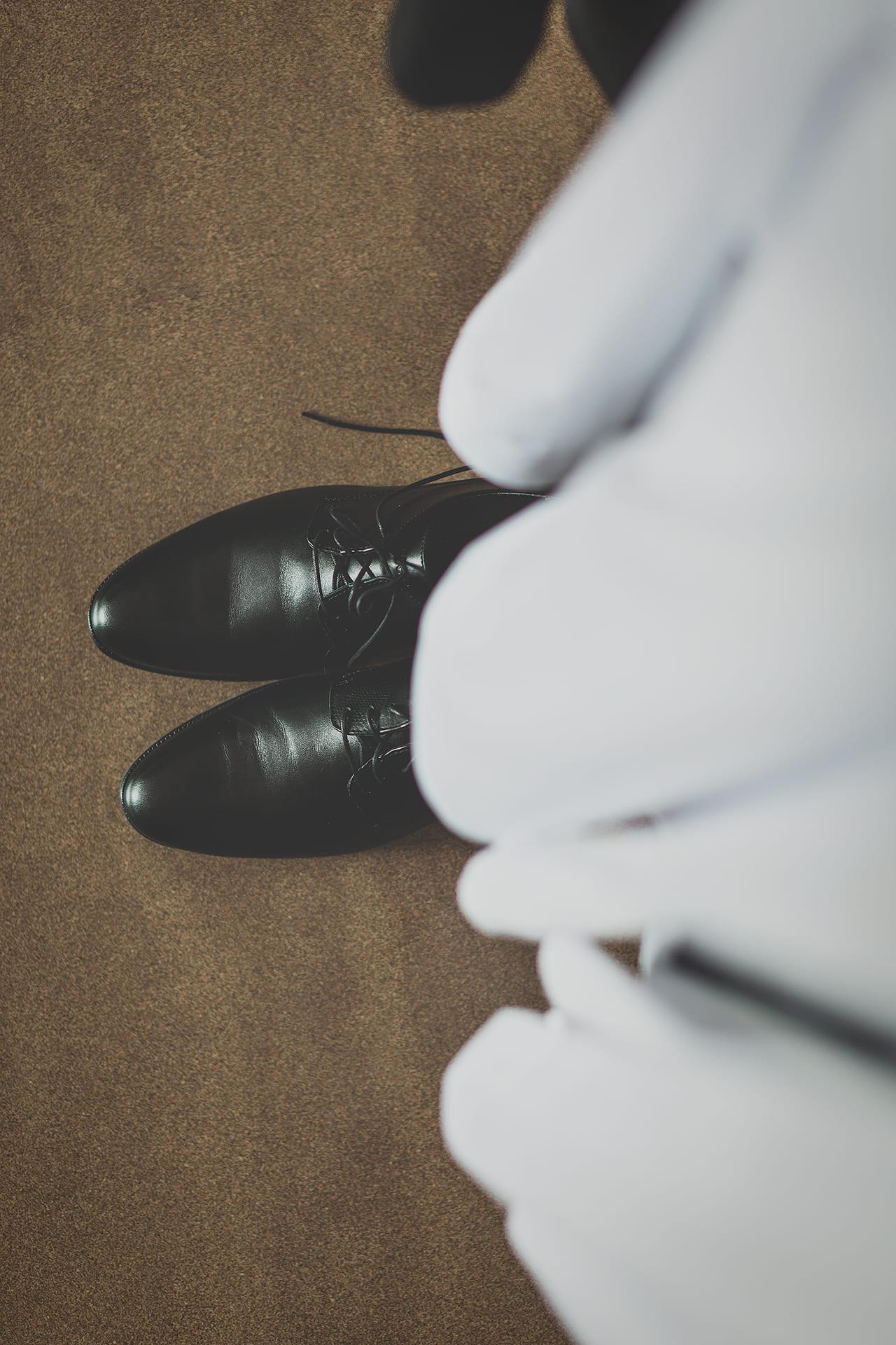 Detal - buty pana młodego