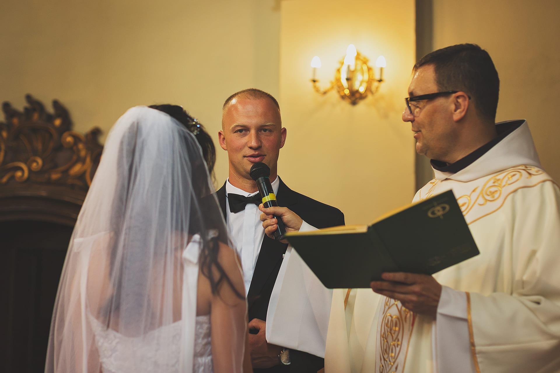 Przysięga małżeńska pana młodego