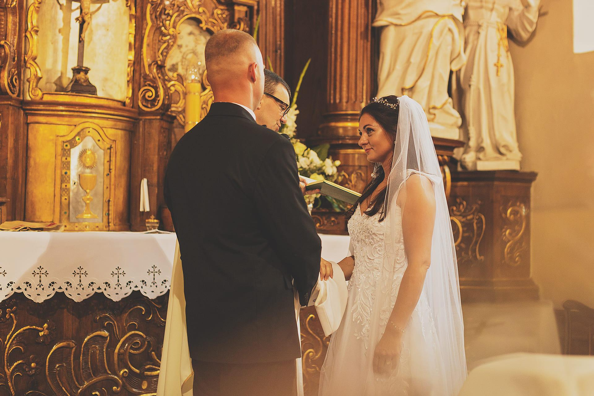 Przysięga małżeńska pani młoda