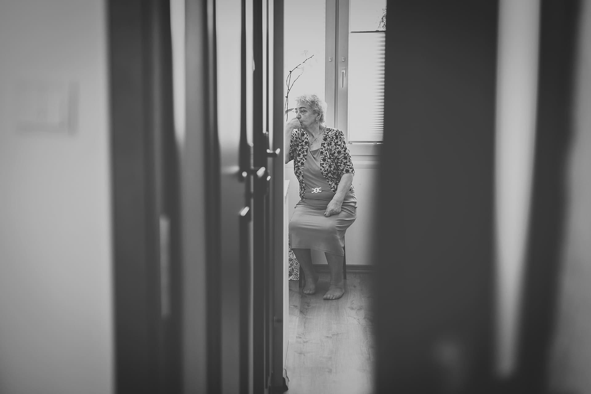 Reportaż ślubny - babcia panny młodej