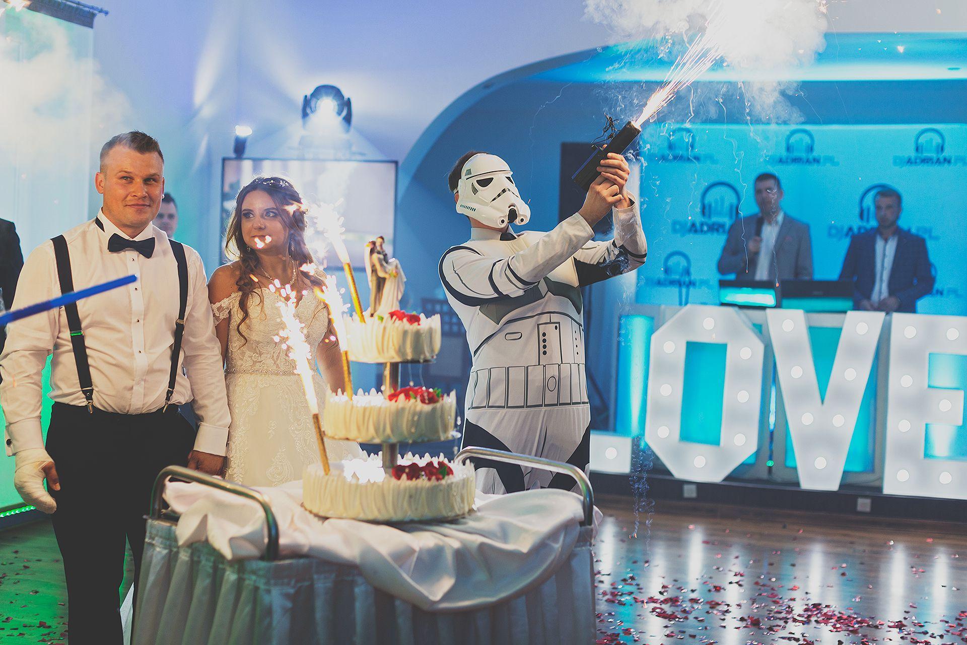 Tort ślubny Star Wars