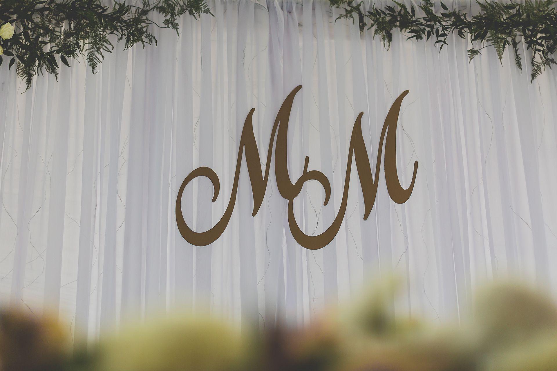 Ozdoby ślubne literki