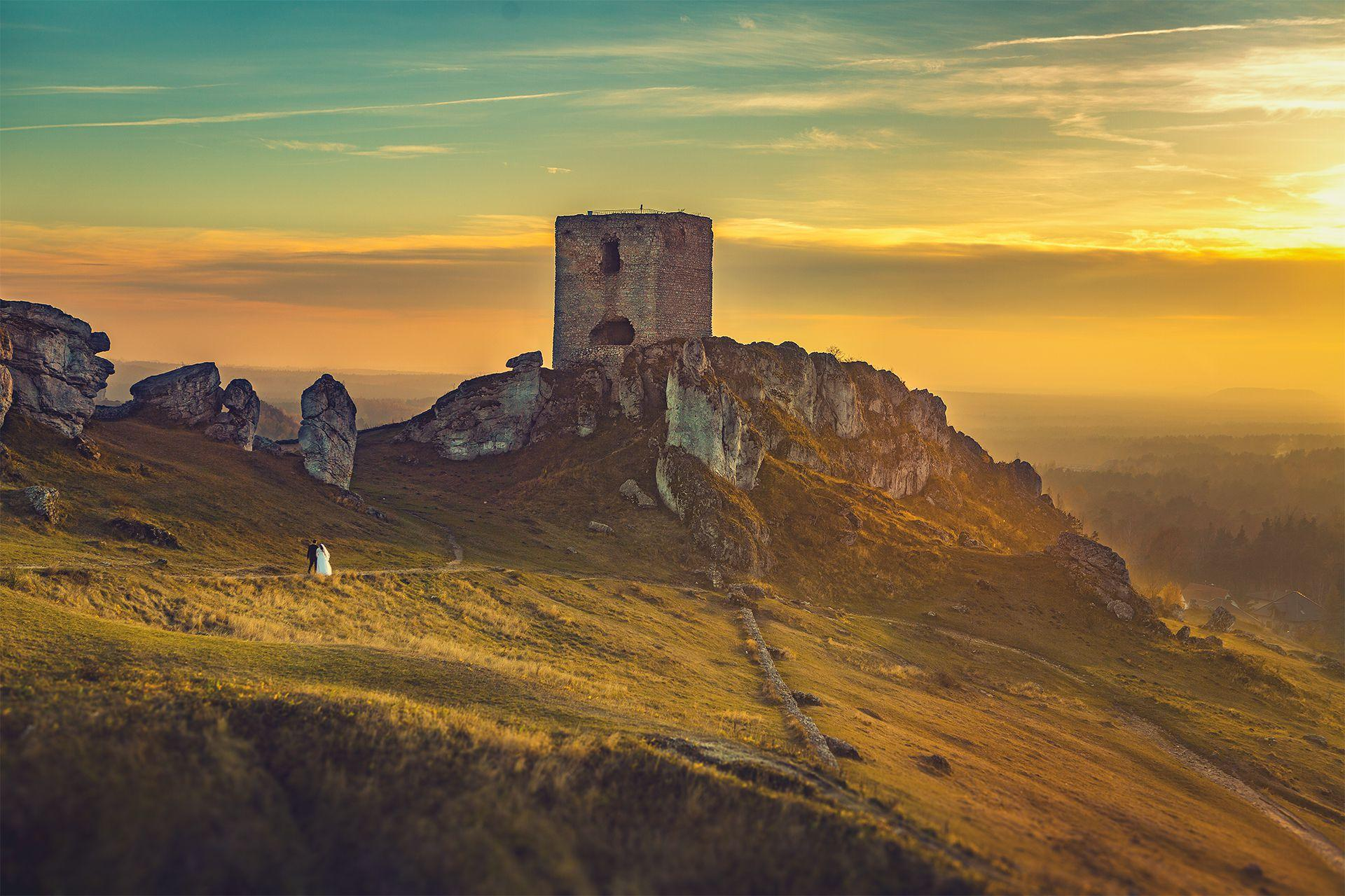 Plener o zachodzie słońca - Ania i Jarek