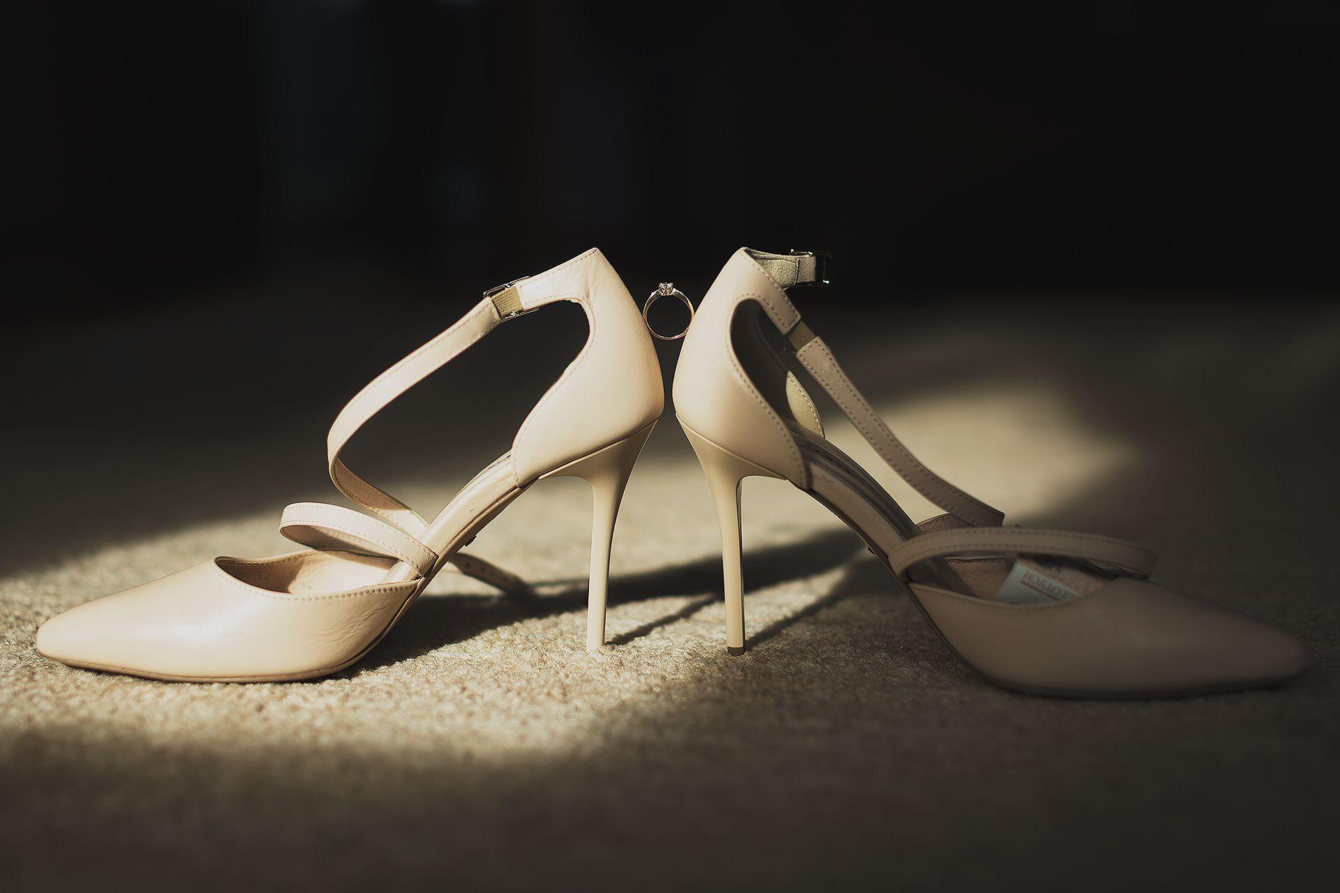 Buty ślubne - detal