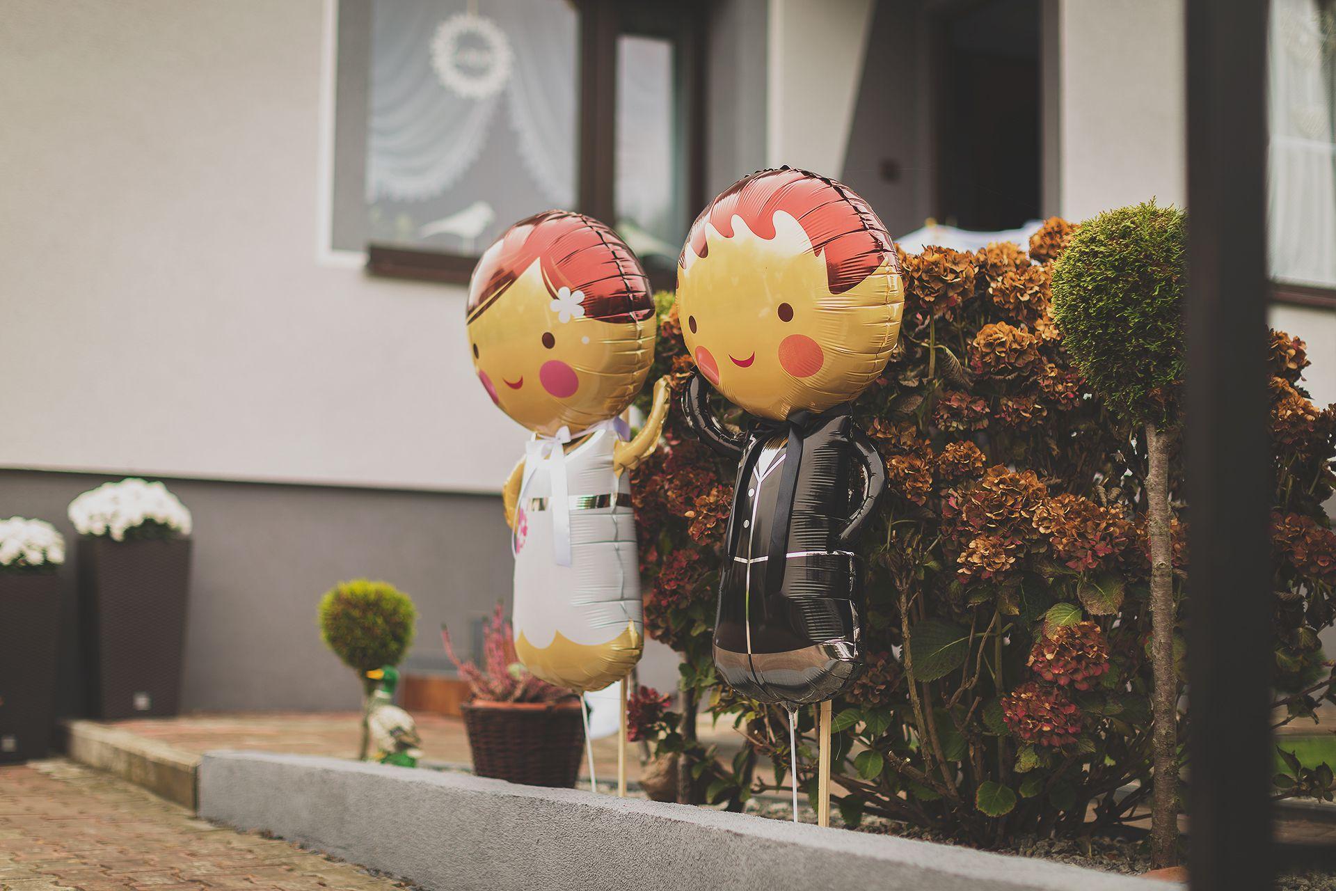 Dekoracje ślubne przy domu