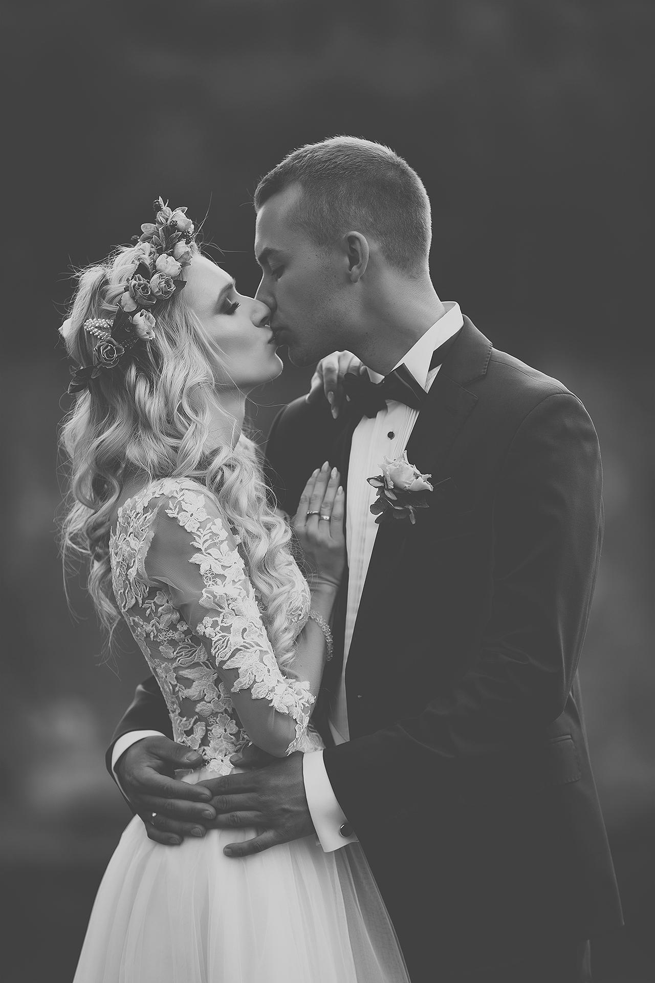 Romantyczny portret pary młodej